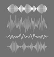 sound waves collection vector image vector image