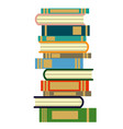 stack of books on a white background pile of books vector image