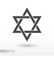 Star of David Star flat icon Sign Star vector image