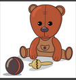 teddy bear with beanbag ball baby announcement vector image vector image