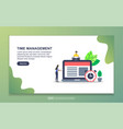 time management concept with tiny people vector image
