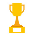 trophy cup winner icon vector image