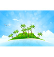 Tropical Island Background vector image vector image