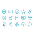 user interface icons set blue gradient vector image vector image