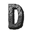 vintage gray letter d desert design