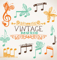 Vintage music design elements vector image vector image
