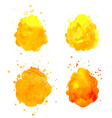 Watercolor splashes vector image vector image