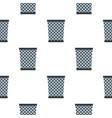 wire metal bin pattern seamless vector image vector image