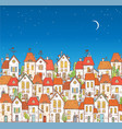 with doodle cartoon colored houses on vector image vector image