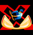 X-Games skateboarding vector image