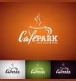 coffe cup logo design template set of cofe shop vector image