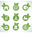 Web icons and design with green leaf vector image