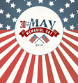 Memorial Day Greeting Card Element vector image