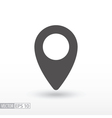 Pin location - flat icon vector image