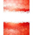 A red and yellow sparkle card background EPS 8 vector image