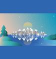 alps full screen winter vector image vector image