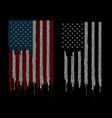 american flag finger vector image vector image