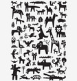 animals doodle set vector image vector image