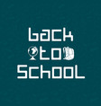 back to school cool background vector image vector image