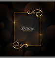 beautiful golden floral invitation frame