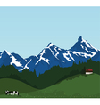 Beautiful mountain landscape vector | Price: 1 Credit (USD $1)