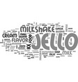 best recipes classic jello milkshake text word vector image vector image