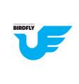 bird flight - logo template concept vector image