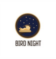 bird night vector image