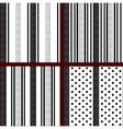 black and white vertical striped polka dot vector image