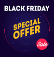 black friday sale - banner template special offer vector image