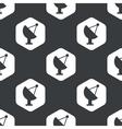 Black hexagon satellite dish pattern vector image vector image