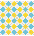 blue and yellow argyle harlequin seamless pattern vector image vector image