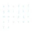 Blue hand write alphabet set1 vector image
