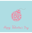 Bomb with hearts Happy Valentines Day Blue vector image