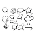 bubble speech icons vector image vector image