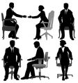 business men and business women vector image vector image