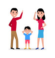 cartoon angry parents swearing child vector image vector image
