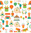 cartoon circus background pattern vector image vector image