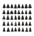 christmas tree silhouette design set concept vector image