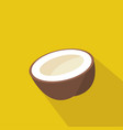 coconut cartoon flat icon brazil vector image