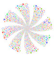 cog fireworks swirl rotation vector image vector image