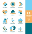 Corporate business logo icon set vector image vector image