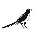 cute magpie icon simple style vector image vector image