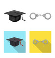 design of law and lawyer sign set of law vector image vector image