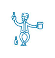 drinking alcohol linear icon concept drinking vector image vector image