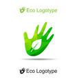 ecology logo or icon in eps nature logotype leave vector image