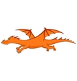 fiery dragon vector image
