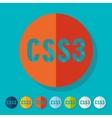 Flat design CSS3 vector image vector image