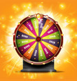 fortune wheel banner luck sign lottery vector image vector image