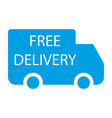 free delivery label vector image vector image